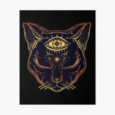 Egyptian Cat with Third Eye Open Art Board Print