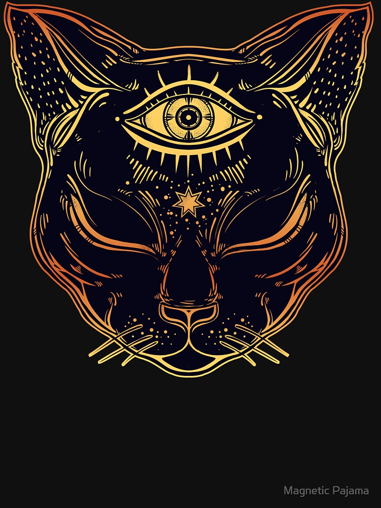 Egyptian Cat with Third Eye Open by MagneticMama