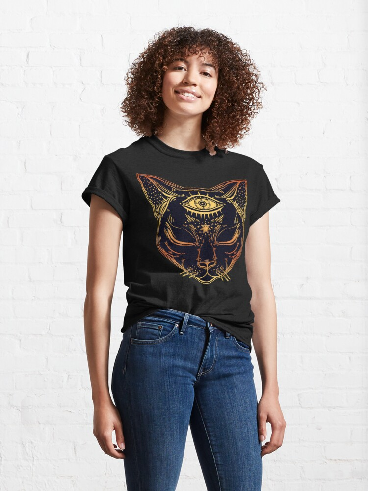 Alternate view of Egyptian Cat with Third Eye Open Classic T-Shirt