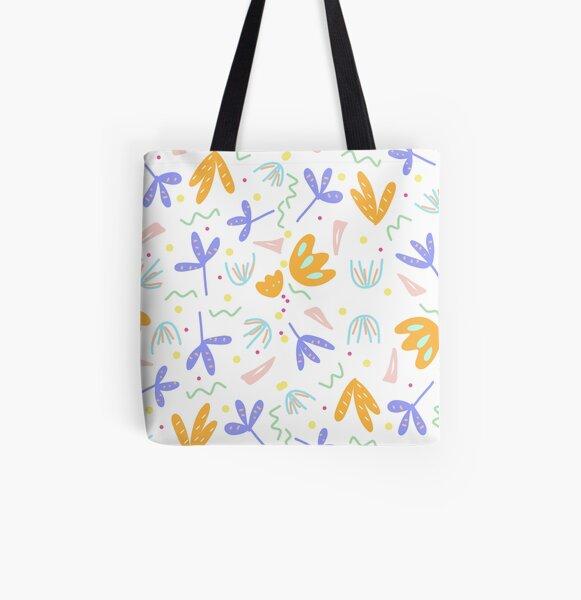 Flower Shower All Over Print Tote Bag