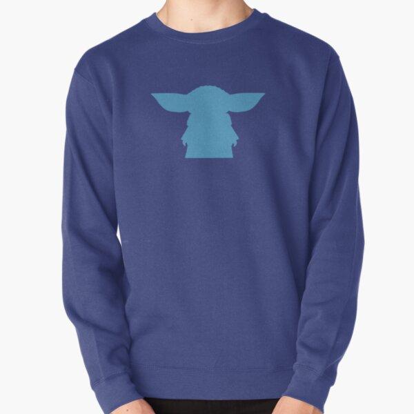 Alien Silhouette -  Blue Pullover Sweatshirt