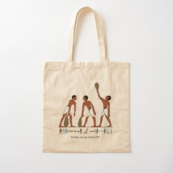 Ancient Egyptian Weightlifters Cotton Tote Bag