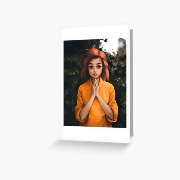 Redhead Colorful Portrait Greeting Card