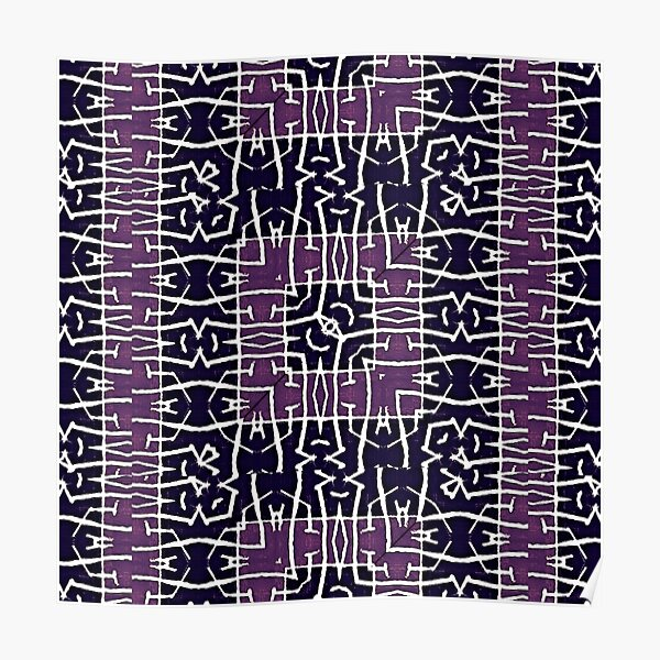African Textile Pattern Poster