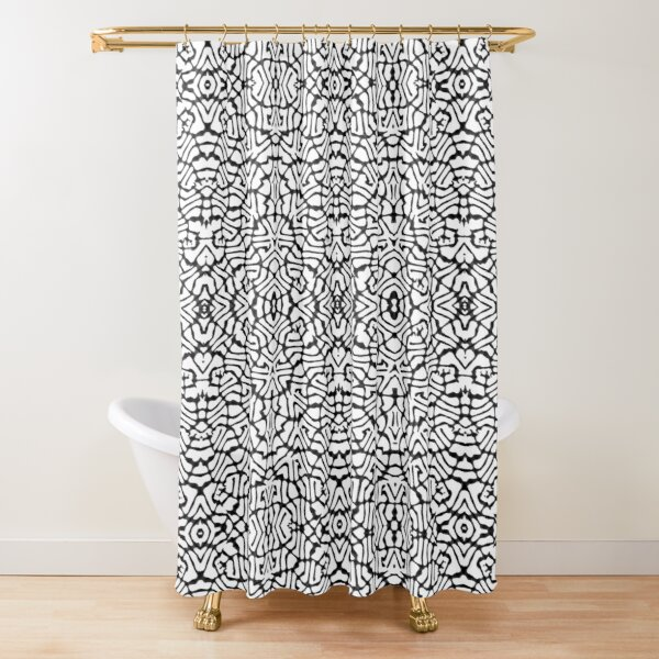 African Textile Pattern  Shower Curtain