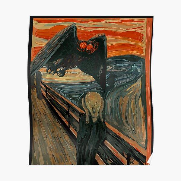 Mothman Scream WV Art Cryptid  Poster
