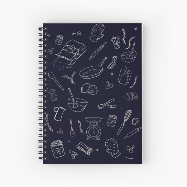 Love Cooking Pattern Spiral Notebook