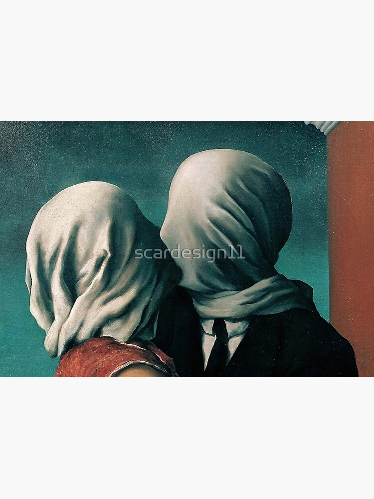 Rene Magritte The Lovers  by scardesign11