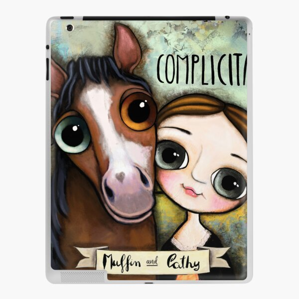 The girl and the horse iPad Skin