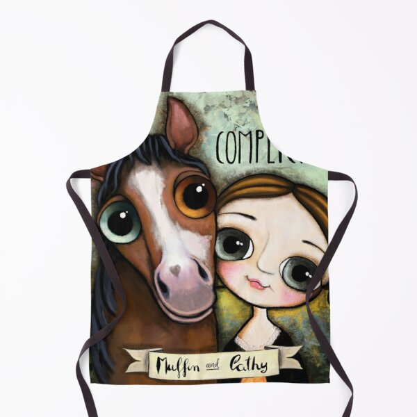 The girl and the horse Apron