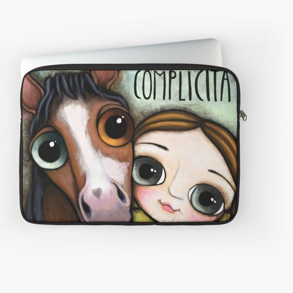 The girl and the horse Laptop Sleeve