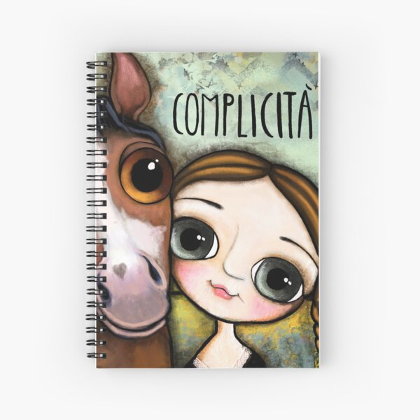 The girl and the horse Spiral Notebook