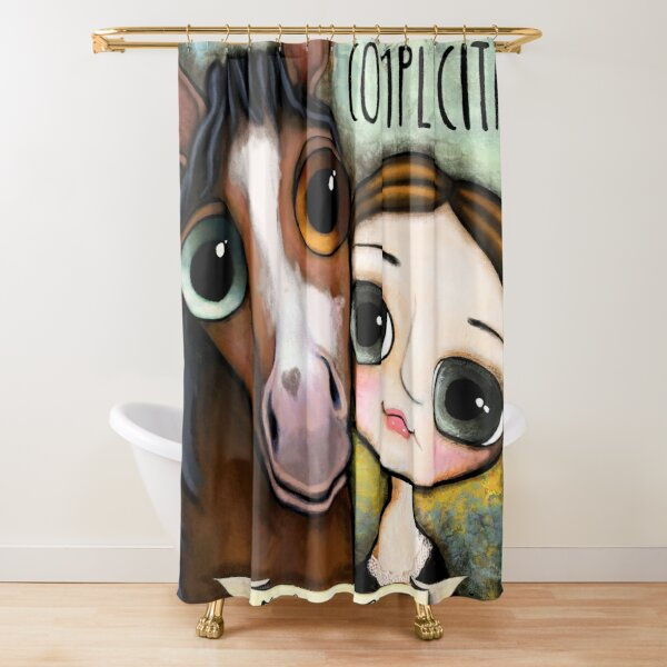 The girl and the horse Shower Curtain
