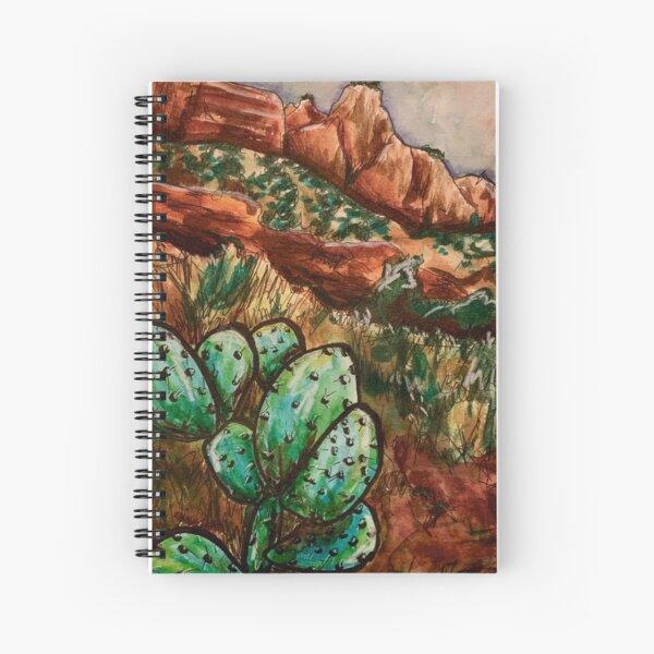 Zion Desert Mountains Landscape Spiral Notebook