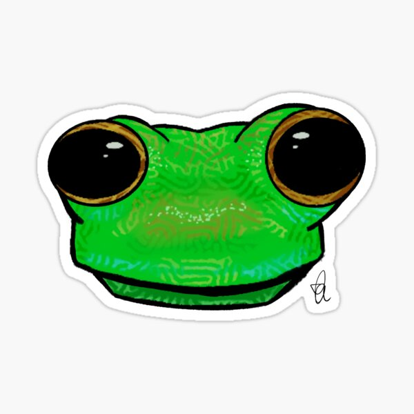 Glass Frog Face Sticker
