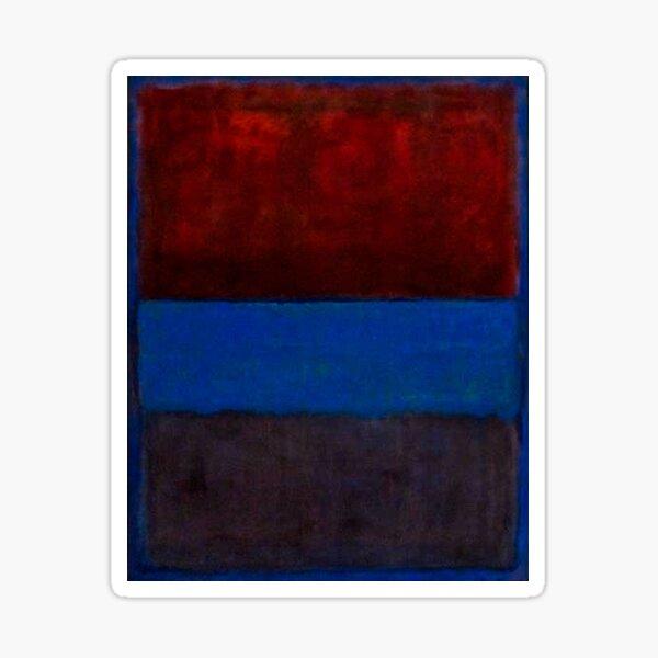 Mark Rothko | Nr. 61 (Rost und Blau) Sticker