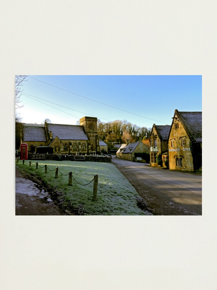Alternate view of Frosty Snowshill Photographic Print