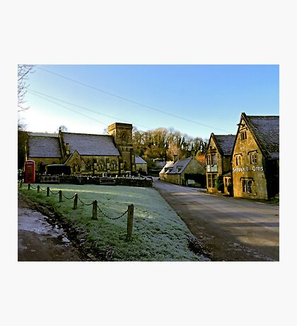 Frosty Snowshill Photographic Print