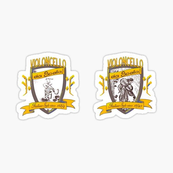 da Spalla Torelli and Bononcini shields Sticker