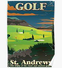 Golf St. Andrews Vintage Werbeplakat drucken Poster