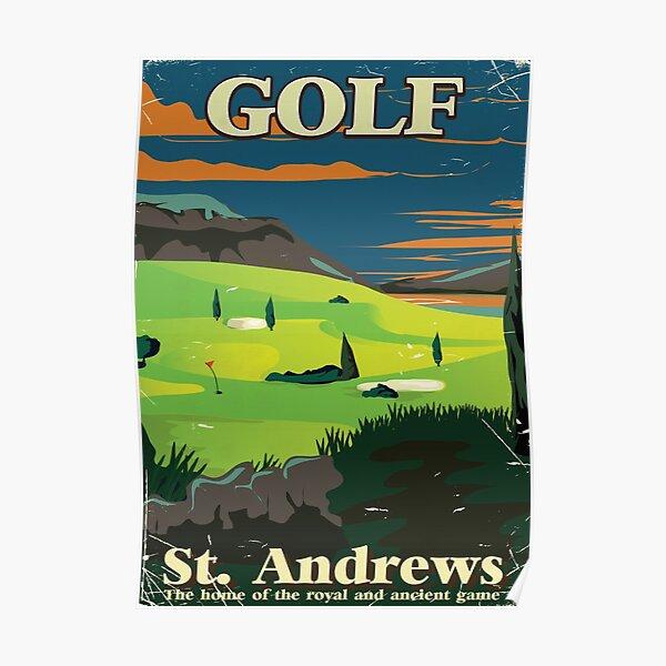 Golf St. Andrews vintage commercial poster print Poster