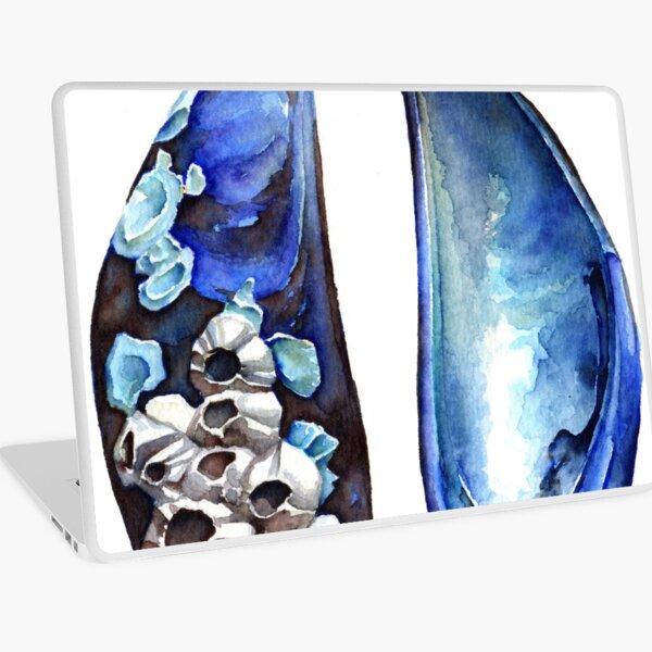 Blue Mussel Shells Laptop Skin