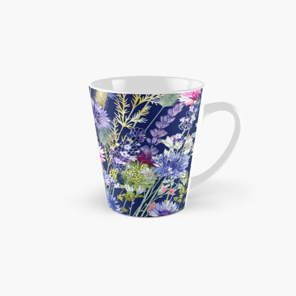 Flower Meadow - Cornflowers, Thistles & Lavender Tall Mug