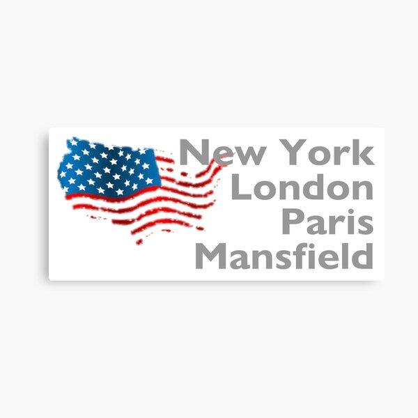 New York London Paris Mansfield Canvas Print