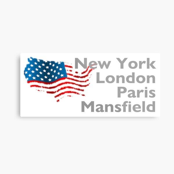 New York London Paris Mansfield Metal Print