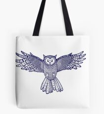 Flying ornamented owl.  Tote Bag