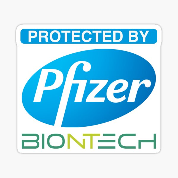 Protected by Pfizer Biontech Sticker