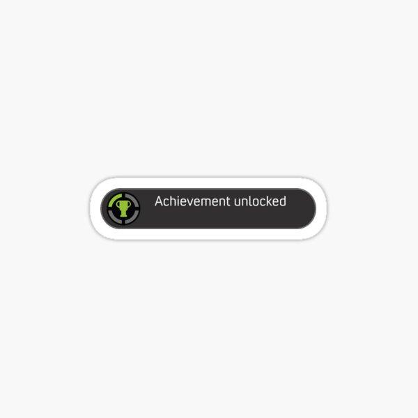 xbox Achievement Unlocked logo Sticker