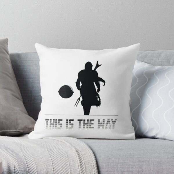 Mando silhouette this is the way Throw Pillow