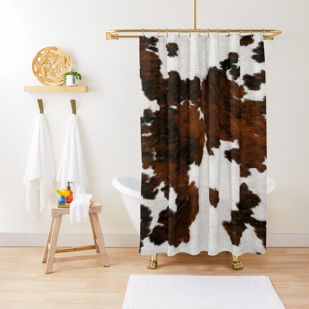 Cattle Fake Cowhide Shower Curtain