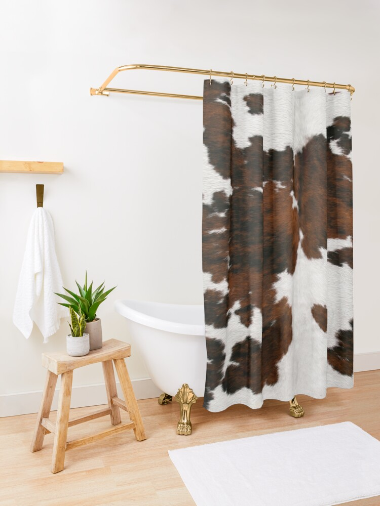 Alternate view of Cattle Fake Cowhide Shower Curtain