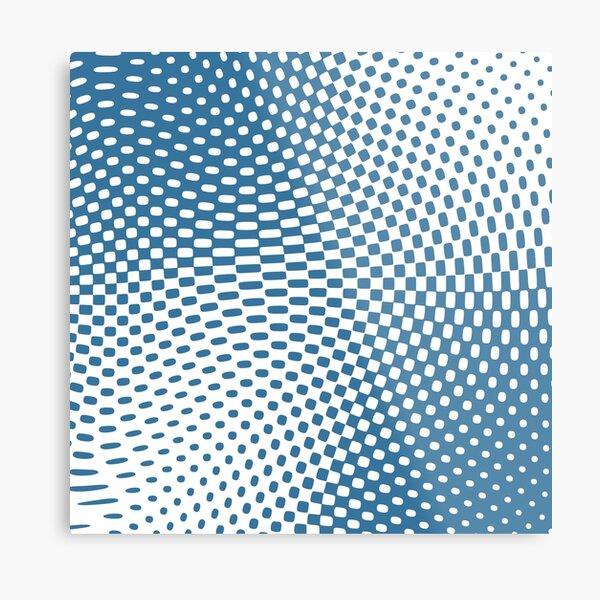Blue twist Metal Print