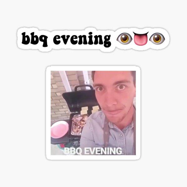 james phelps bbq evening sticker  Sticker