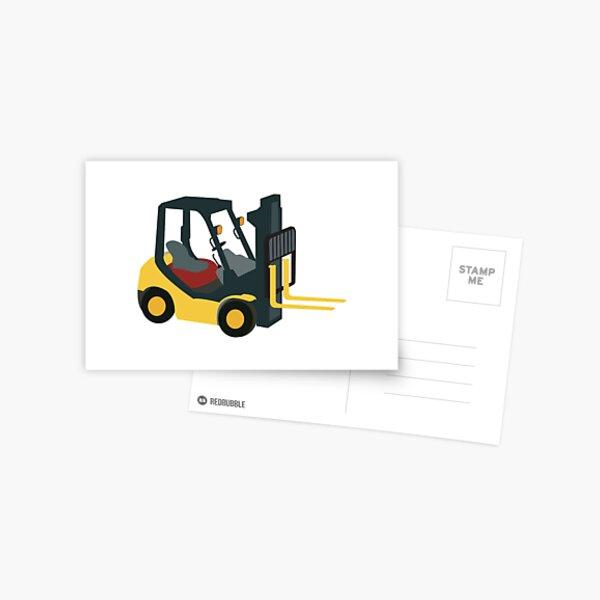 Forklift Truck Postcard