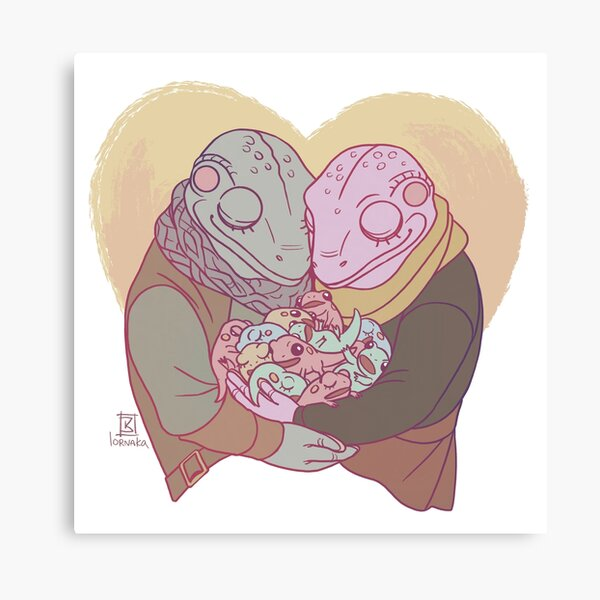 Happily Frog Ever After Canvas Print