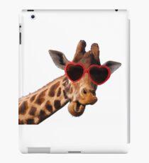 Cool Giraffe wearing Sunglasses ( fun humour comedy ) iPad Case/Skin