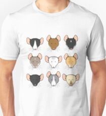 Ratty Faces Unisex T-Shirt
