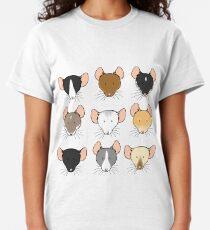 Camiseta clásica Ratty Faces