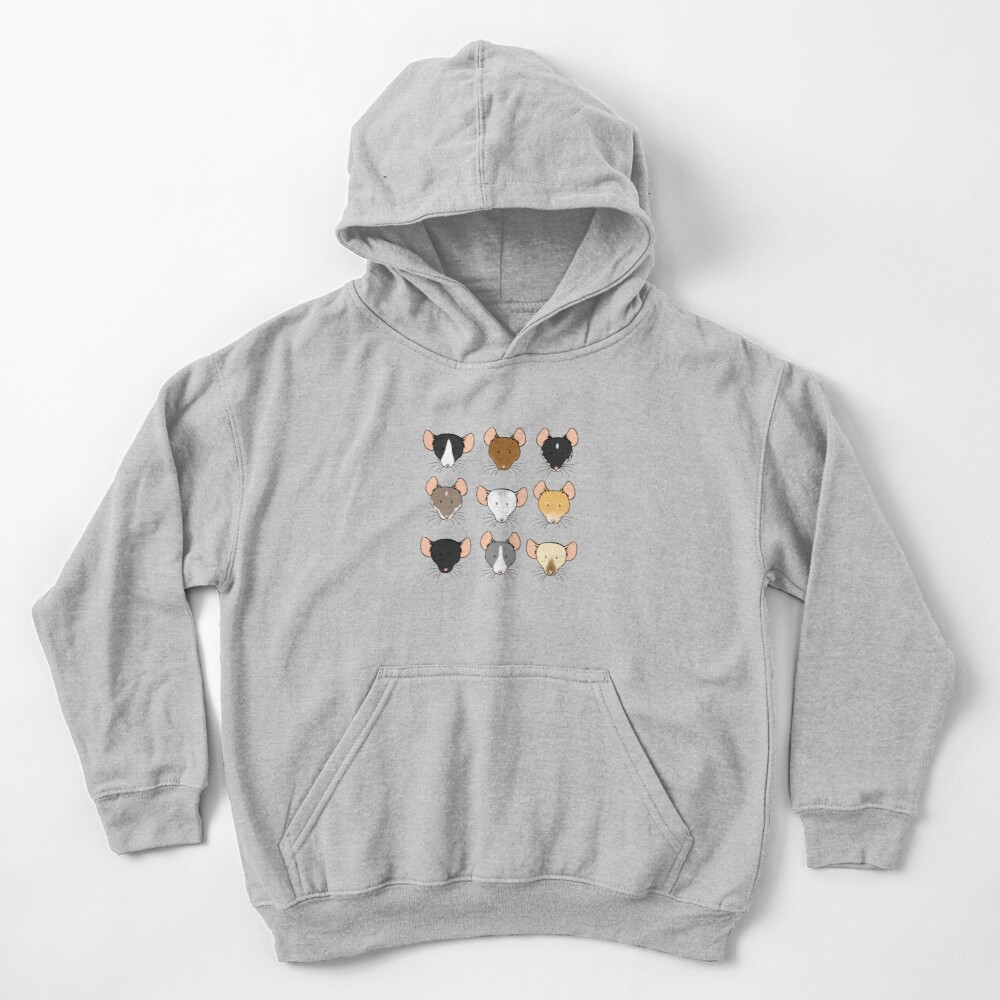 Ratty Faces Kids Pullover Hoodie