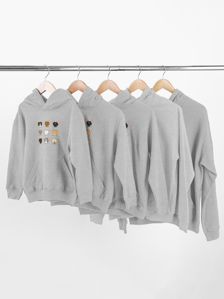 Alternate view of Ratty Faces Kids Pullover Hoodie