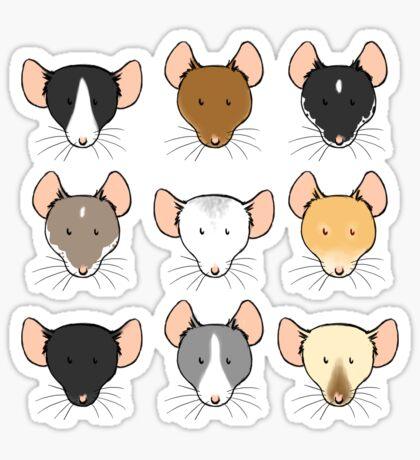 Ratty Faces Sticker