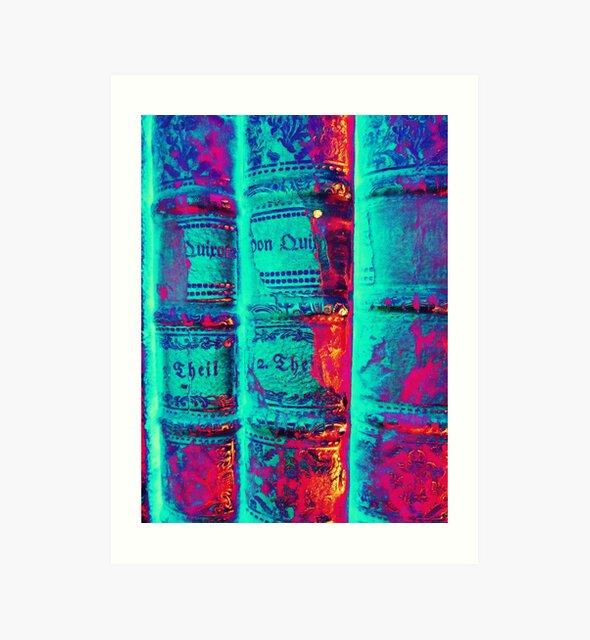 old Books - alte Bücher psychodelic von Marion Waschk