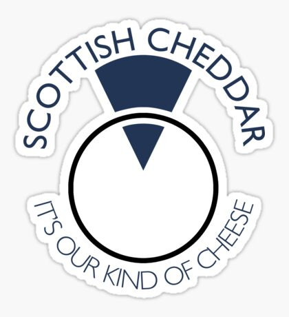 Scottish Cheddar: Blue Sticker