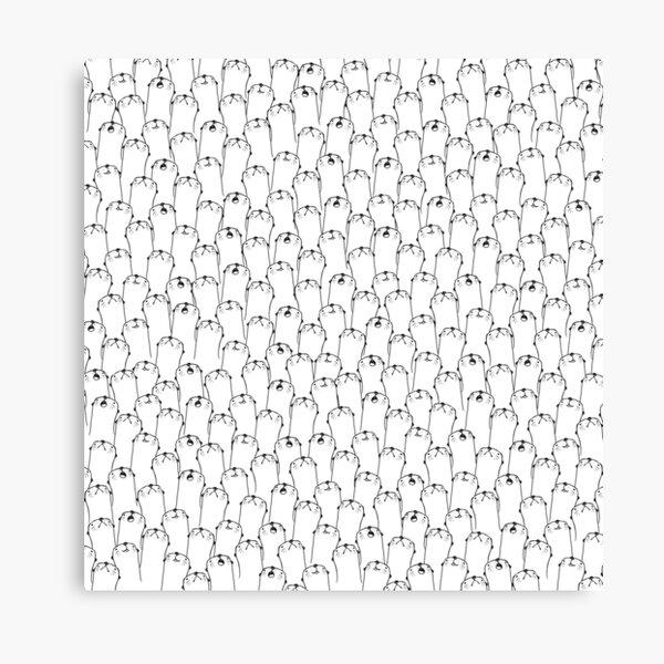 Otter pattern Canvas Print
