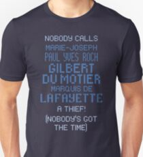 lafayette's frankly ridiculous name T-Shirt