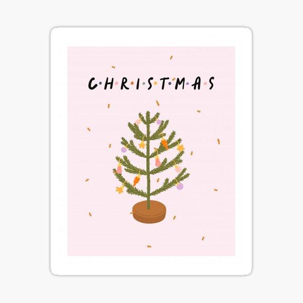 Christmas tree greeting card Sticker